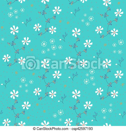 t rkis muster seamless hintergrund weisse blumen eps vektoren suche clipart. Black Bedroom Furniture Sets. Home Design Ideas