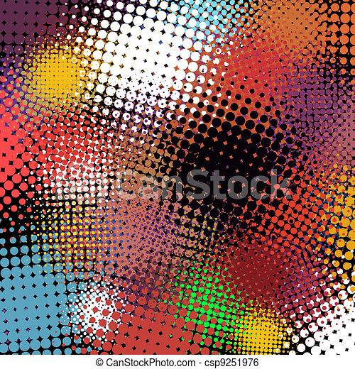 tło., abstrakcyjny, halftone, eps, 8 - csp9251976