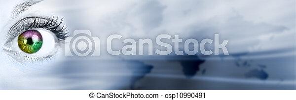 tło., abstrakcyjny, handlowy - csp10990491