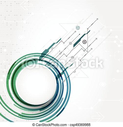 tło., abstrakcyjny, techniczny - csp49369988