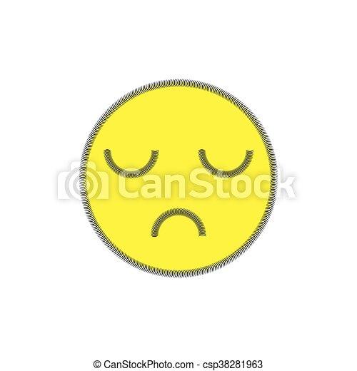tło., biały, disapproval., uśmiech - csp38281963
