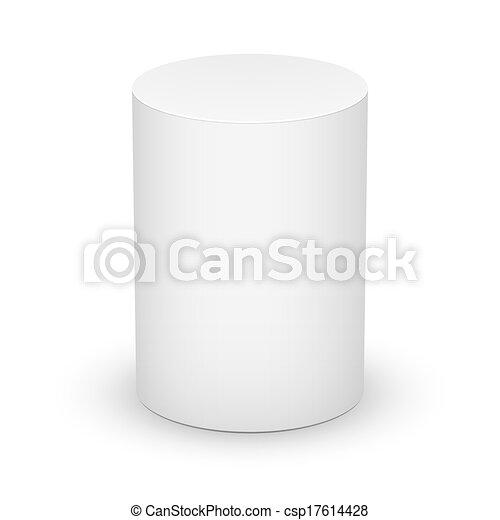 tło., biały, walec - csp17614428