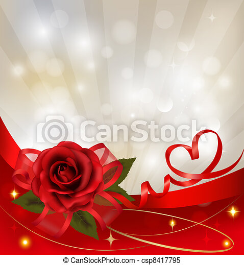 tło., dzień, valentine`s - csp8417795