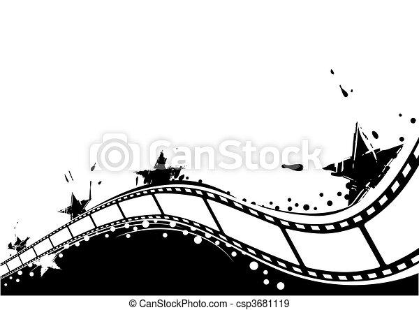tło, film - csp3681119