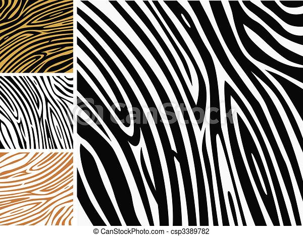 tło modelują, -, zebra, zwierzę skóra odcisk - csp3389782