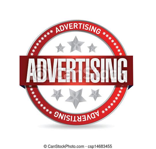 tłoczyć, advertising., słowo, ilustracja - csp14683455