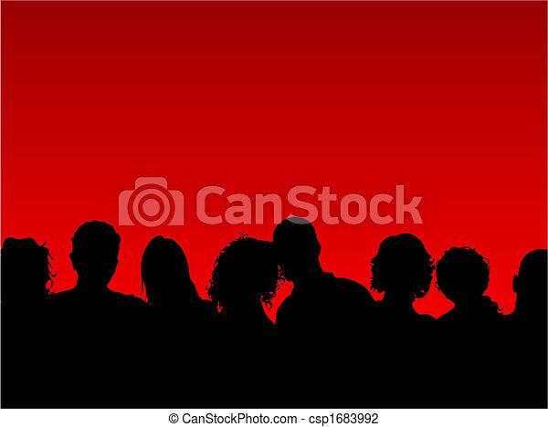 tłum, ludzie - csp1683992