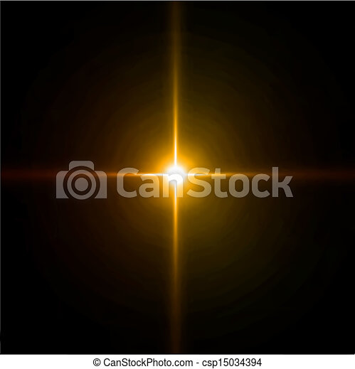 tűzijáték, csillogó szétrobbant, flare., lencse, vektor - csp15034394