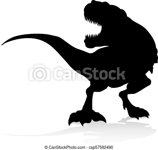 T Rex Dinosaur Silhouette A Silhouette T Rex Dinosaur Illustration