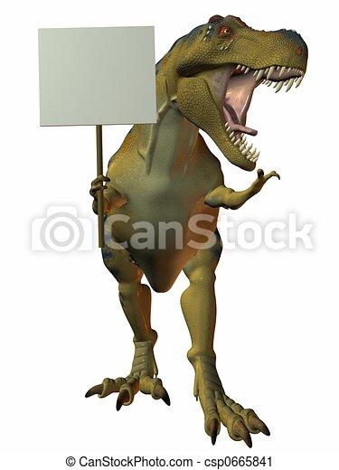 t-rex, meldingsbord - csp0665841