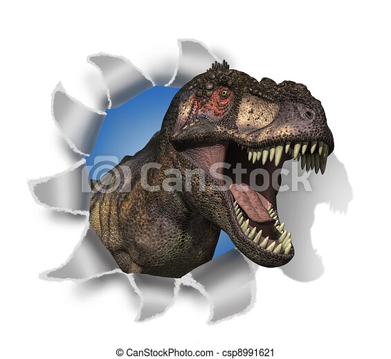 T-Rex Rips Through Your Document! - csp8991621