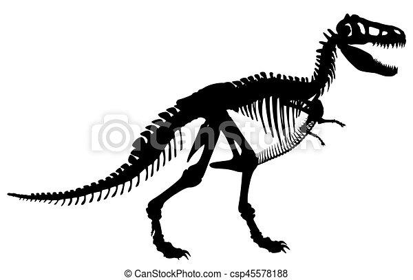 T rex skeleton - csp45578188