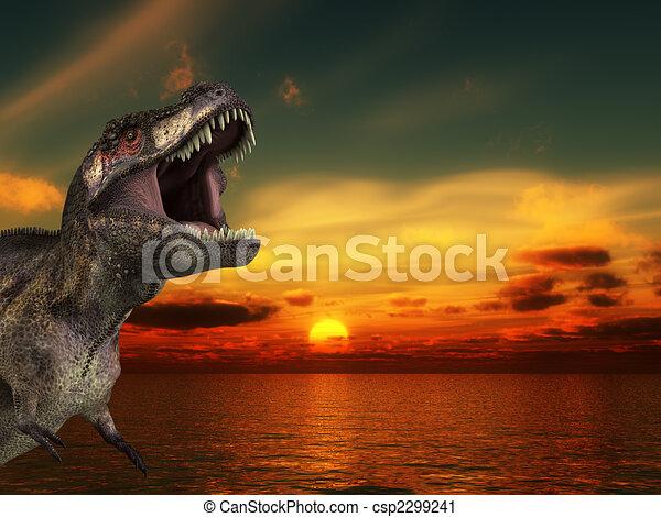 T Rex Sunrise - csp2299241