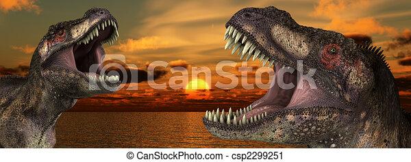 T Rex Sunrise  - csp2299251