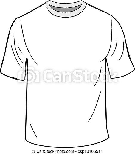 t-shirt, blanc, conception, gabarit - csp10165511