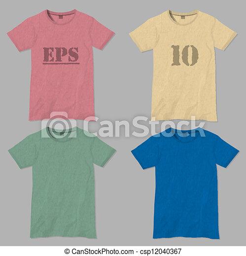 T-shirt design templates - csp12040367