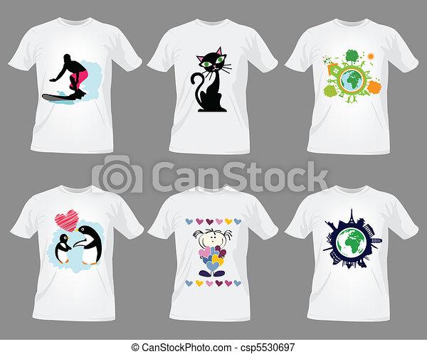t-shirt design templates - csp5530697