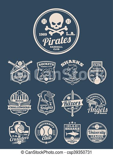T-shirt design vector templates for colleges - csp39350731