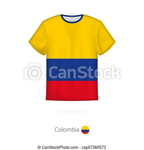 d305571f9 T-shirt design with flag of colombia. t-shirt vector template.