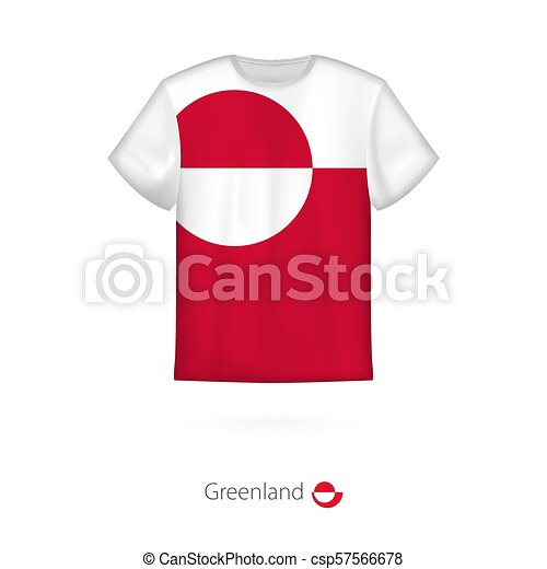 51d2cad5b T-shirt design with flag of greenland. t-shirt vector template.