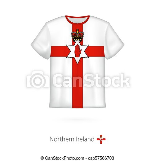T-shirt design with flag of Northern Ireland. - csp57566703