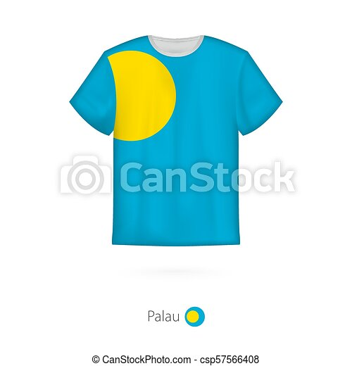 29607e1b2 T-shirt design with flag of palau. t-shirt vector template.