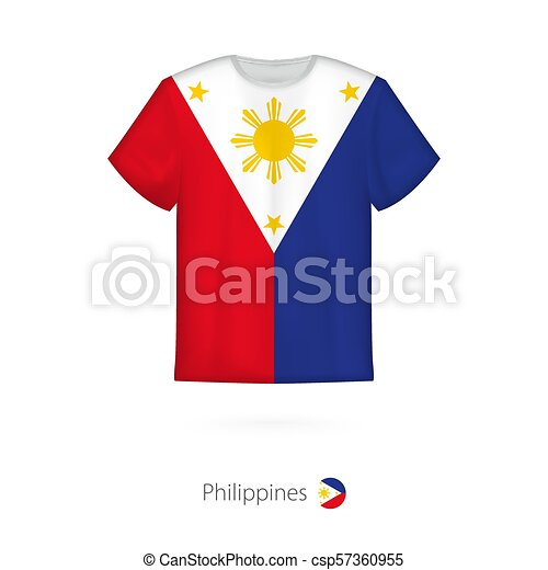 87ba966f4 T-shirt design with flag of philippines. t-shirt vector template.