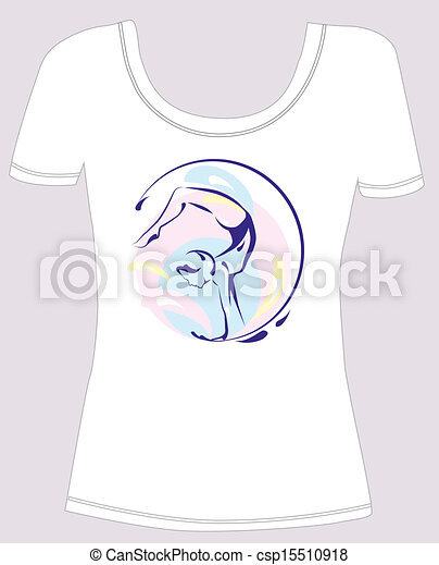 T Shirt Design With Girl Silhouette