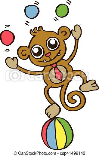T Shirt Divertente Bambini Disegno Scimmia Divertente
