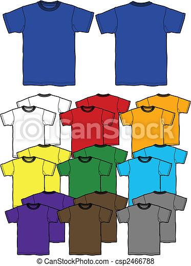 t-shirt, esboço - csp2466788