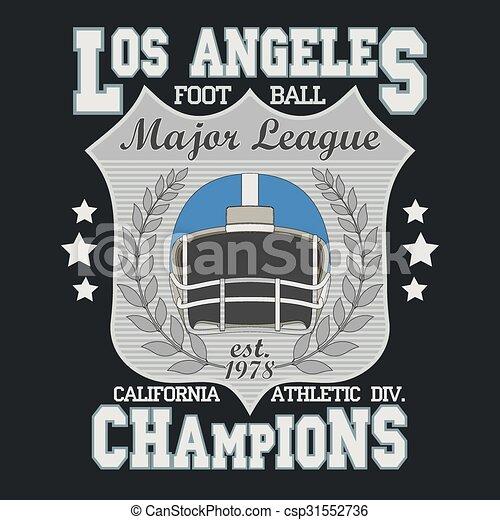 6f5692bc8 T-shirt football fashion design. California sport typography ...