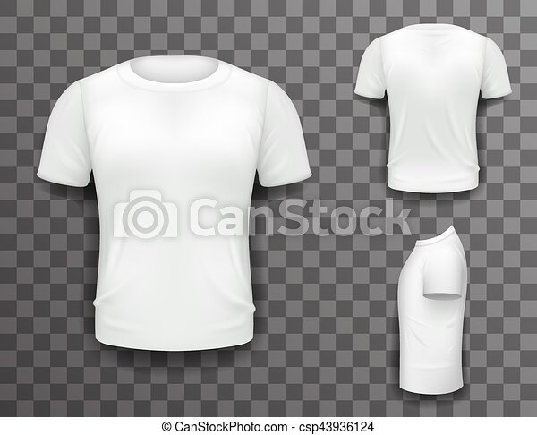 T Shirt Design Line Art : T shirt front side back view template realistic 3d design vector