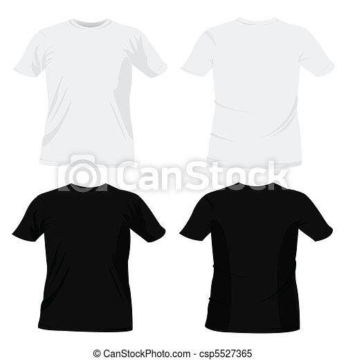 t-shirt, gabarits, conception - csp5527365