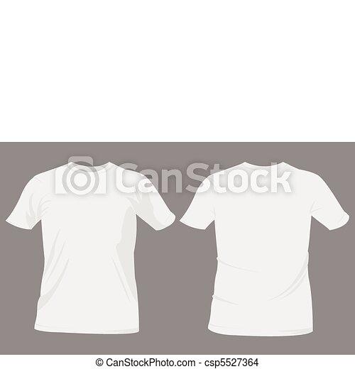 t-shirt, gabarits, conception - csp5527364