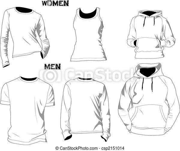 t-shirt, gabarits - csp2151014