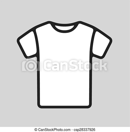 t shirt icon vector illustration of winter cap icon on grey background https www canstockphoto com t shirt icon 28337926 html