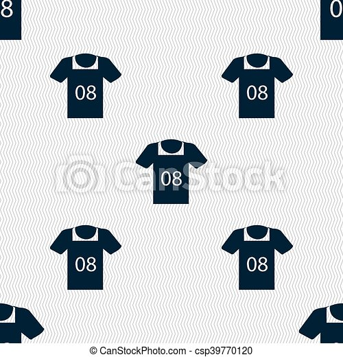 T-shirt Icon sign  Seamless pattern with geometric texture  Vector