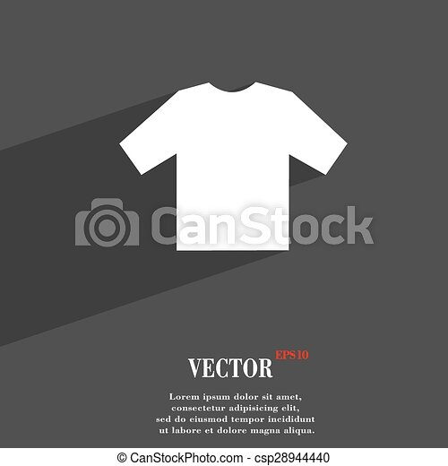 t-shirt icon symbol Flat modern web design with long shadow and space for your text. Vector - csp28944440