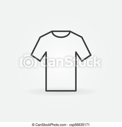 t shirt icon vector outline tshirt sign t shirt icon vector outline clothing tshirt sign https www canstockphoto com t shirt icon vector outline tshirt sign 56635171 html