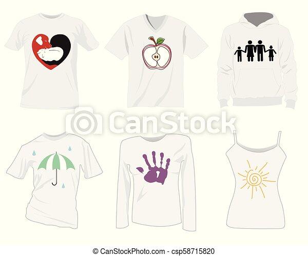 t-shirt, mascherine - csp58715820
