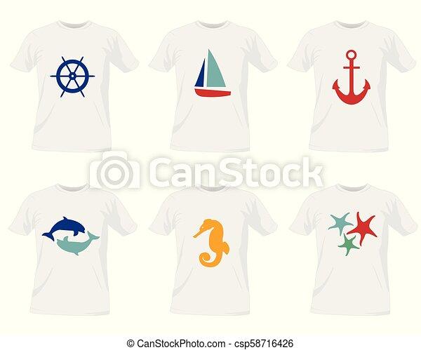 t-shirt, mascherine - csp58716426