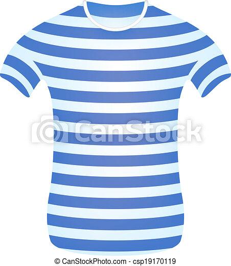 t shirt, randig, sjöman