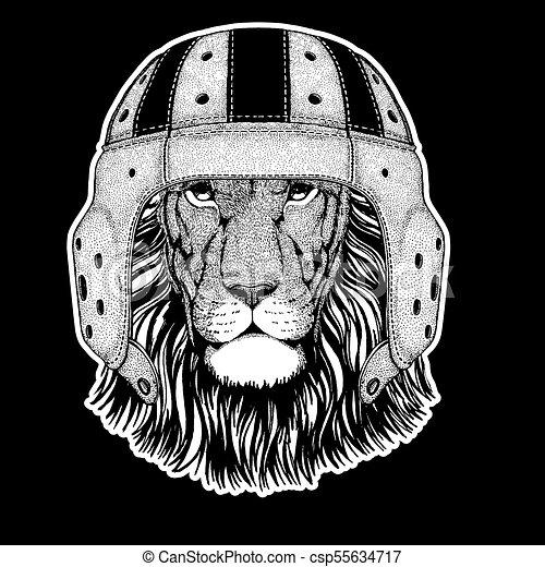 T Shirt Rugby Ecusson Image Player Embleme Main Lion Tatouage Dessine Piece Logo