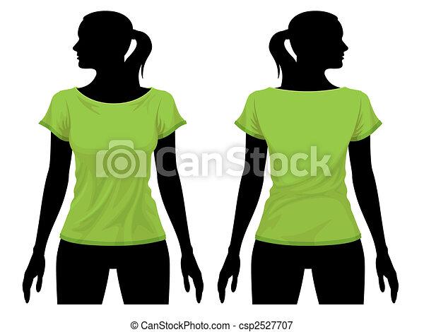 t-shirt, schablone - csp2527707