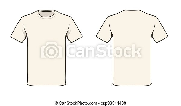 T-shirt, schablone. Fest, t-shirt, farbe, leicht, leer, template ...