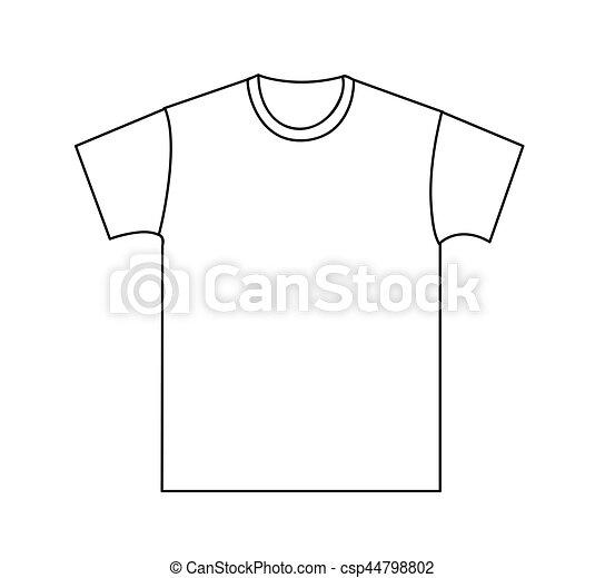 T-shirt, schablone, leer.