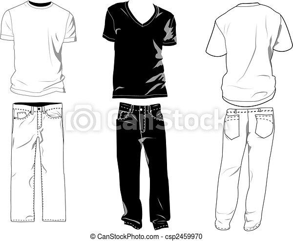 T-shirt, schablonen, hose. Schichten, eigen, templates/mockups, sein ...