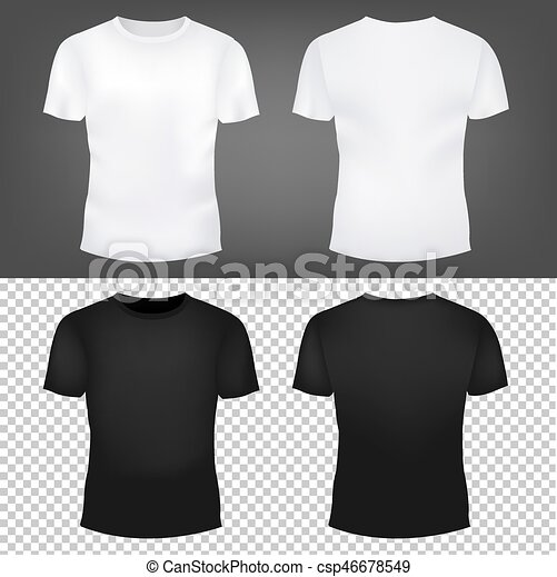 T-shirt template collection gradient mesh, vector illustration.