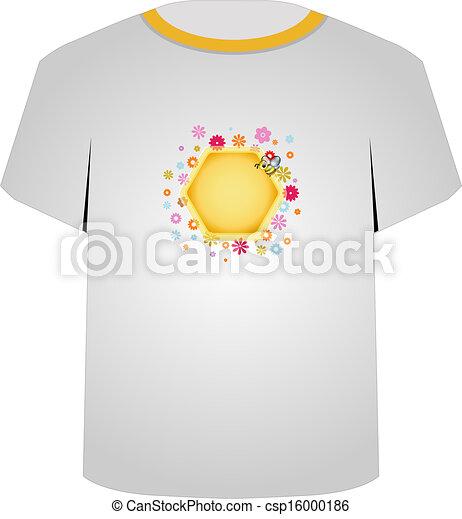 T Shirt Template Cute Honeybee