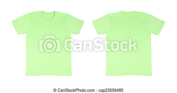 T-shirt template set(front, back) on white background pictures ...
